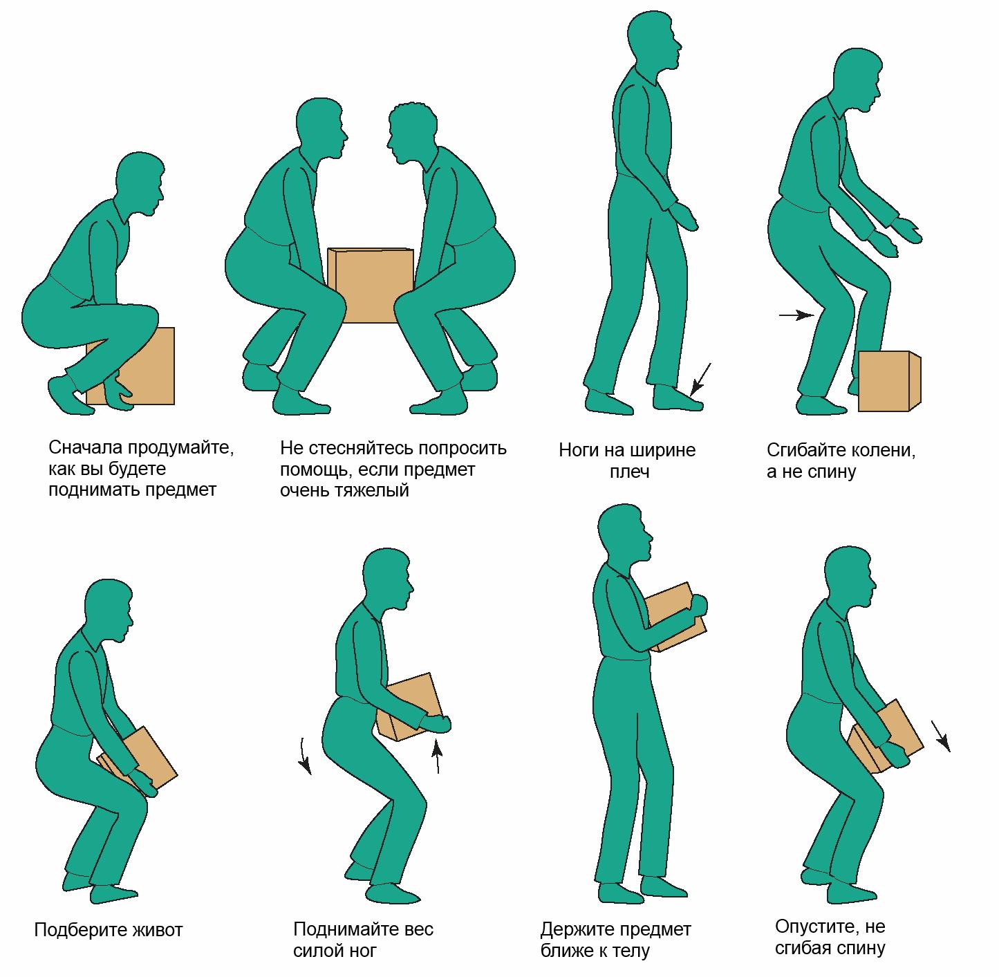 Подъем тяжести позвоночник